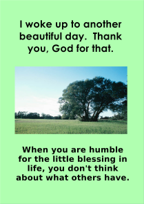 Humble Blessing